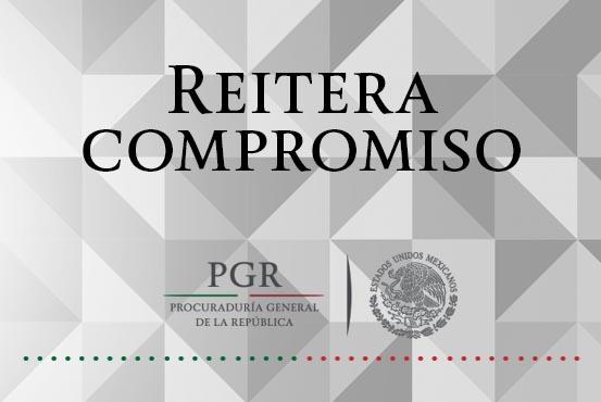 Reitera PGR su compromiso con las víctimas del Delito de Trata de Personas. Comunicado 376/16