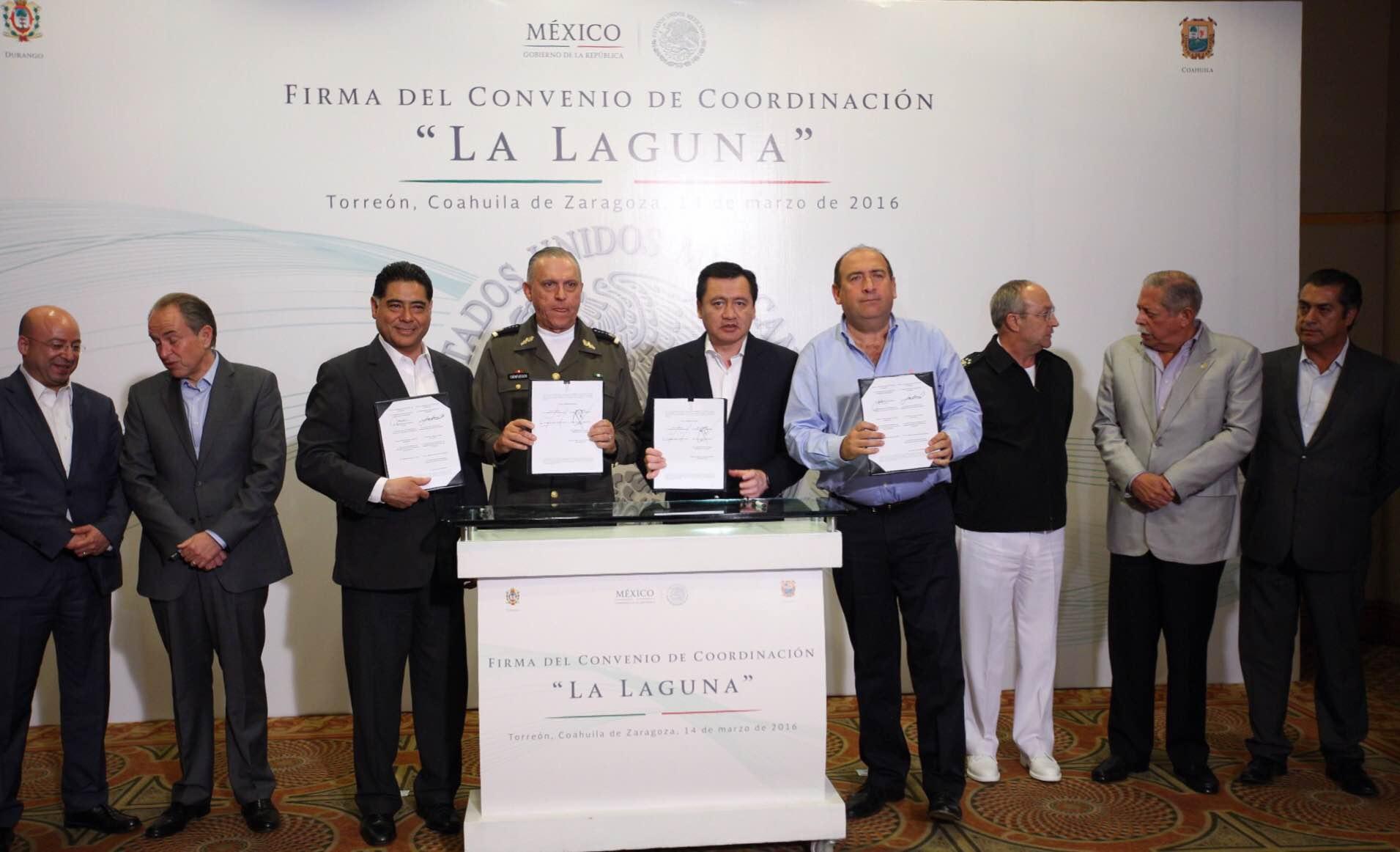 """Firma del Convenio de Coordinación Mando Especial """"La Laguna"""""""