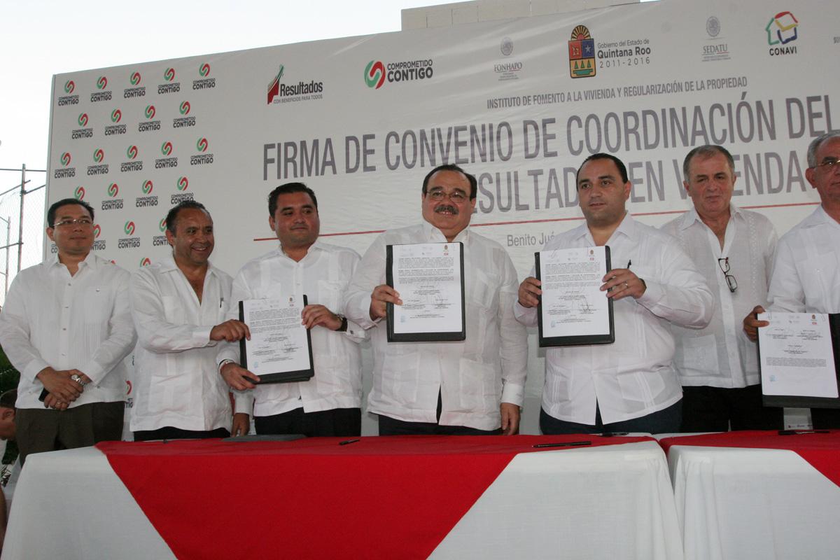 El secretario de Desarrollo Agrario, Territorial y Urbano, Jorge Carlos Ramírez Marín, en gira de trabajo por Quintana Roo.