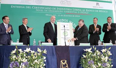 Entregó Profepa certificado NDA2 a Banxico por eco eficiencia en sus procesos de fabricación y manufactura de billetes