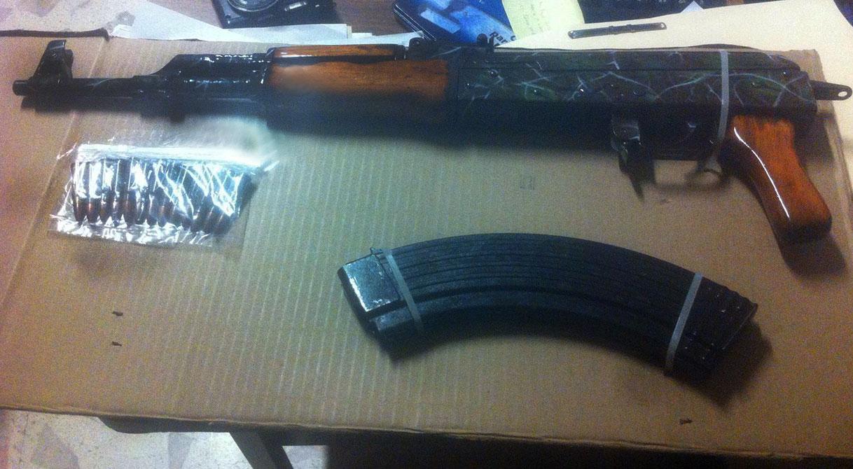 Consigna PGR a un individuo detenido en posesión de armas