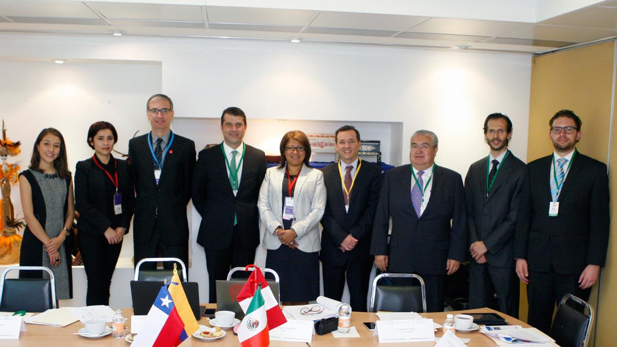 Reunión del Grupo Técnico de Turismo de la Alianza del Pacífico en la Secretaría de Turismo.