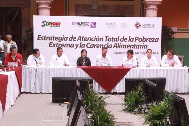 Estrategia de Atención Total de la Pobreza Extrema y Carencia Alimentaria en 58 Municipios de Zacatecas
