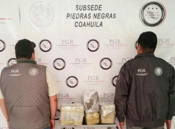 PGR aseguró droga en la Ciudad de Piedras Negras, Coahuila