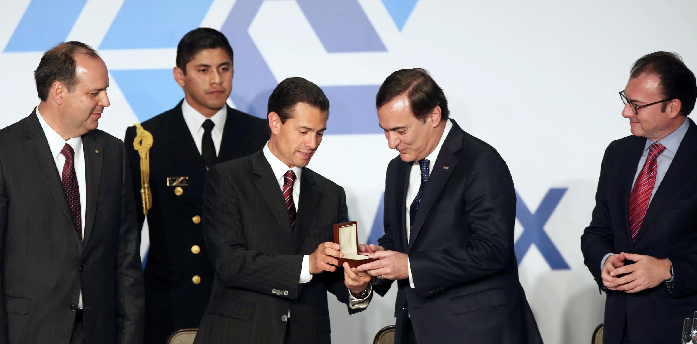 El Primer Mandatario tomó  la protesta al Consejo Directivo Nacional de la Confederación Patronal de la República Mexicana (COPARMEX).