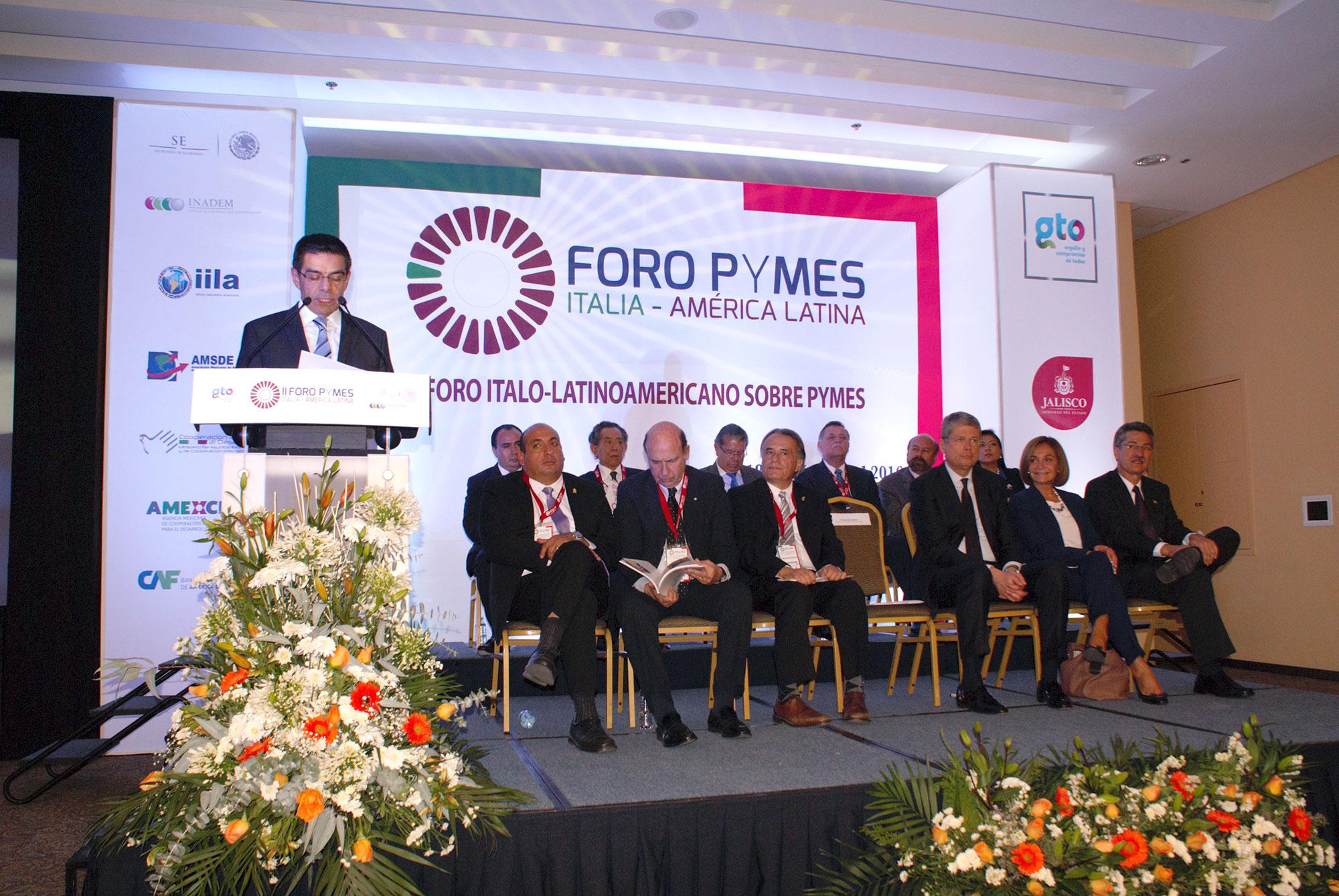 Inauguran el II Foro Ítalo-Latinoamericano sobre PYMES en León, Guanajuato