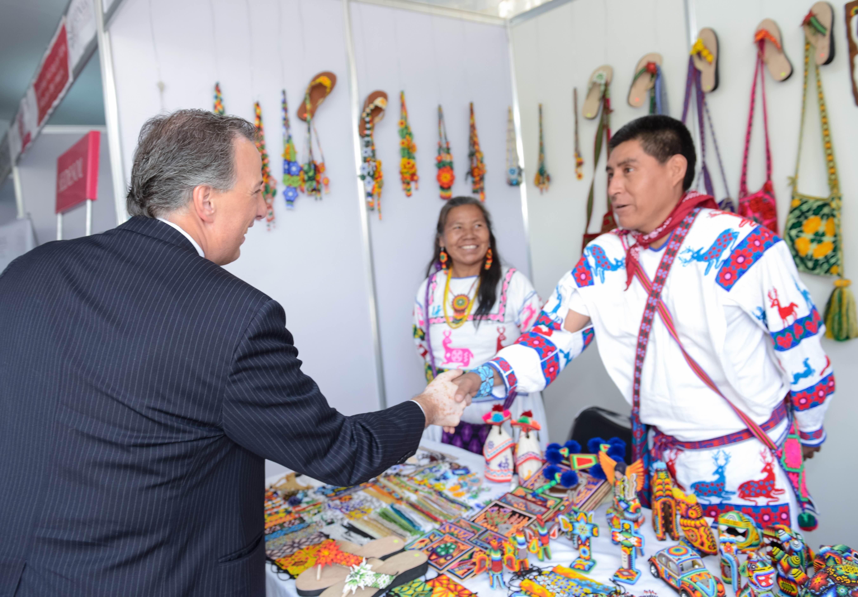 Secretario de Desarrollo Social, José Antonio Meade Kuribreña, en el marco del Día del Artesano