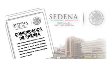 Imágenes representativas de la SEDENA
