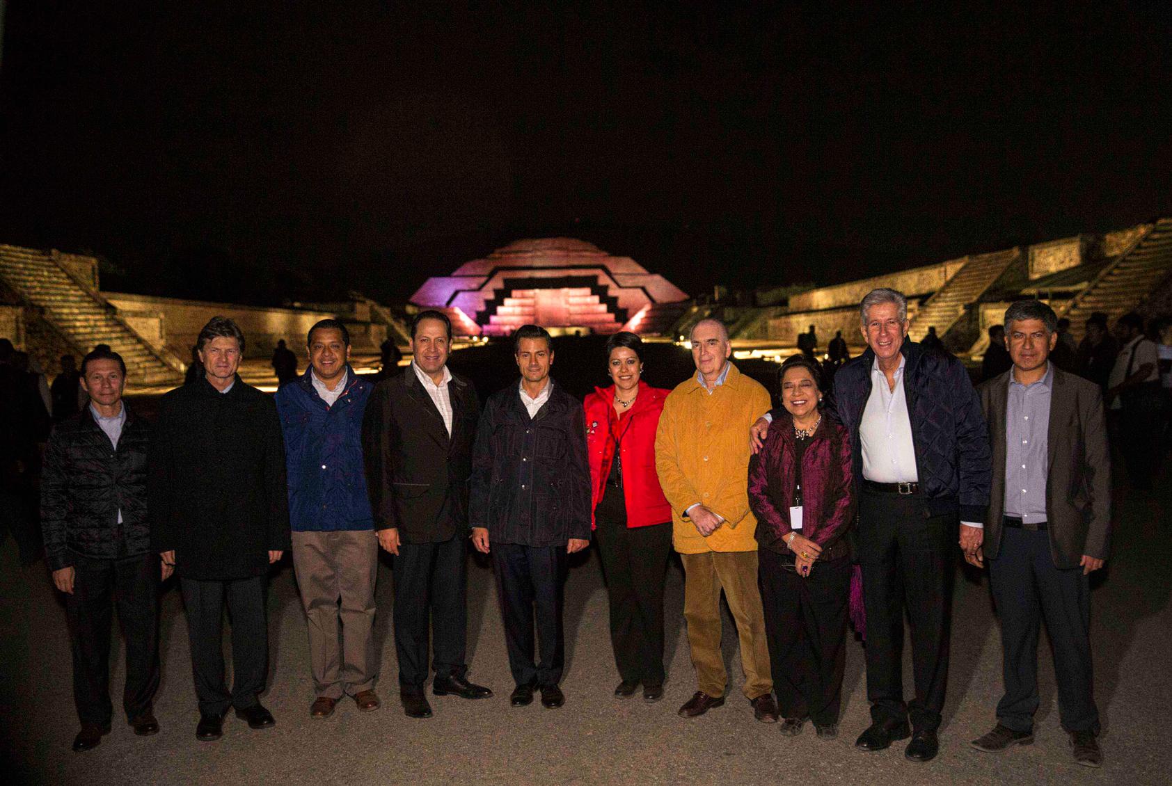 Teotihuacán siempre ha sido un lugar magnífico, imponente, maravilloso, que hoy cuando sólo quedan algunas estructuras arqueológicas de lo que fue esta gran ciudad, sigue siendo espectacular, señaló el Gobernador del Estado de México, Eruviel Ávila.