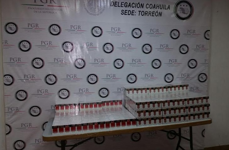 Asegura PGR 40 mil cigarros apócrifos en Coahuila