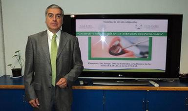 """El C.D. Jorge Triana Estrada, académico de la FES Iztacala de la UNAM, impartió la conferencia """"Calidad y Seguridad en la Atención Odontológica"""""""