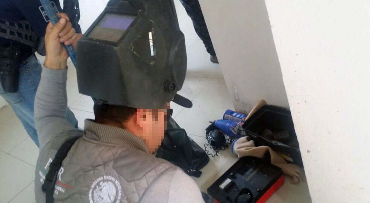 Mediante cateos PGR localiza tomas clandestinas y asegura utensilios para el robo de hidrocarburo en Cuitzeo.