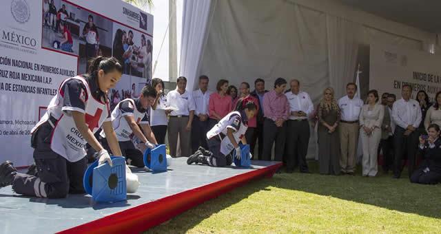 Capacitará Cruz Roja a integrantes de Estancias Infantiles de Sedesol
