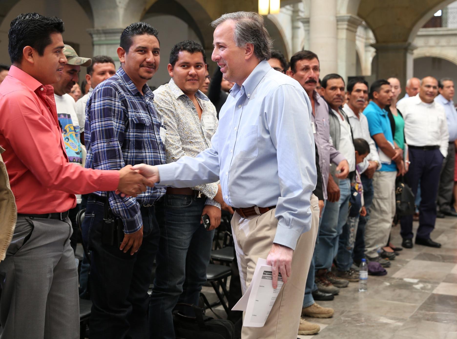 Secretario Meade en el marco de su gira de trabajo al estado de Oaxaca