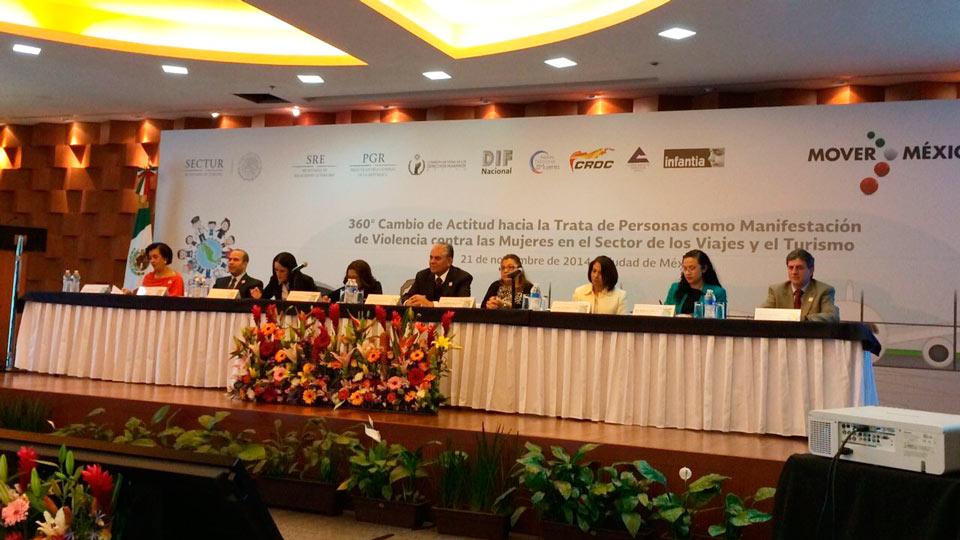 El subsecretario Salvador Sánchez Estrada participó en el Foro 360° Cambio de Actitud hacia la trata de Personas.
