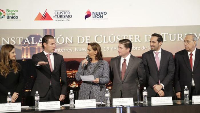 La Secretaria de Turismo, Claudia Ruizz Massieu, inaugura clúster de turismo en Nuevo León, Monterrey.