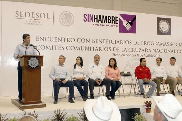 Gira de Ernesto Nemer en Sonora con la Cruzada Nacional Contra el Hambre