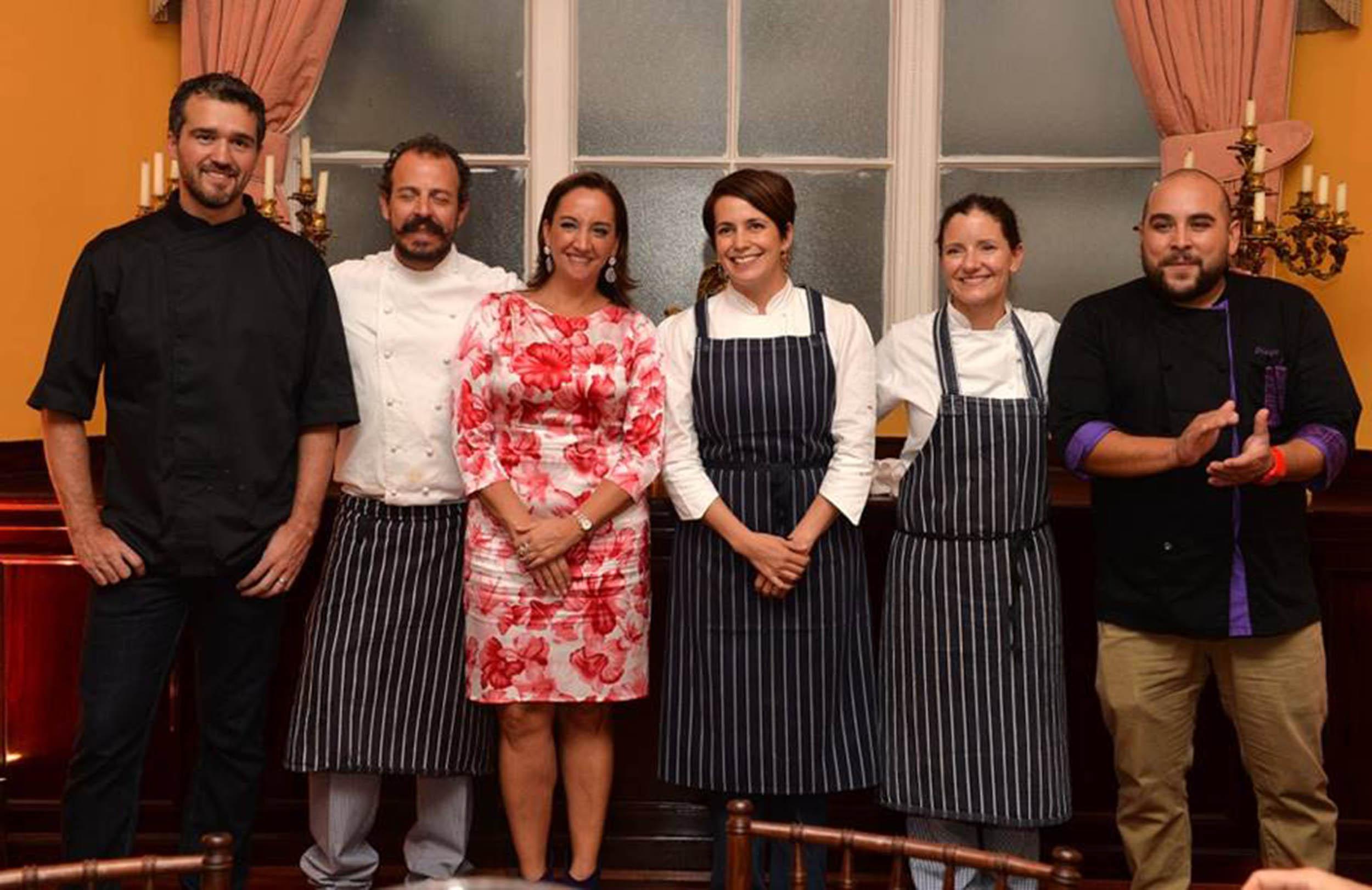 La Secretaria de Turismo, Claudia Ruiza Massieu, presenta cocina mexicana en Reino Unido.
