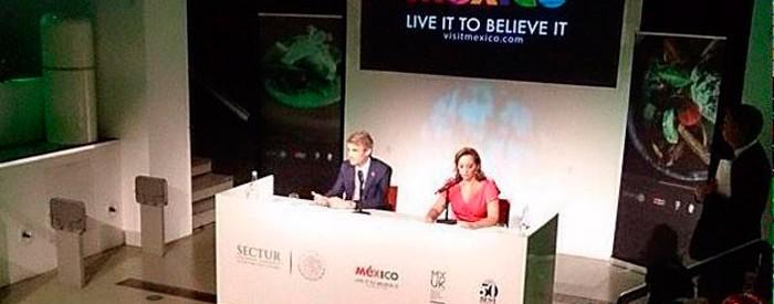 La Secretaria de Turismo, Claudia Ruiz Massieu, anuncia que México será país anfitrión de los Latin America's 50 Best Restaurants.