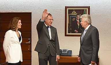 Toma protesta Gerardo Ruiz Esparza a Fernando Borjón Figueroa como titular de PROMTEL