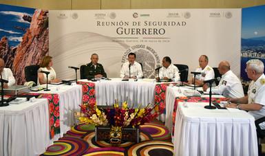 El Secretario de Gobernación, Miguel Ángel Osorio Chong, encabezó la Reunión de Seguridad Guerrero en Acapulco, Guerrero