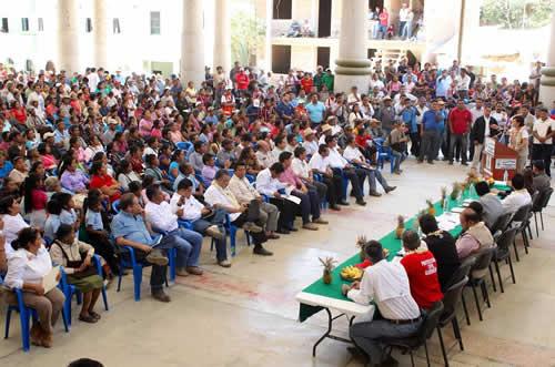Reunión con la comunidad de Tlacoapa, Guerrero