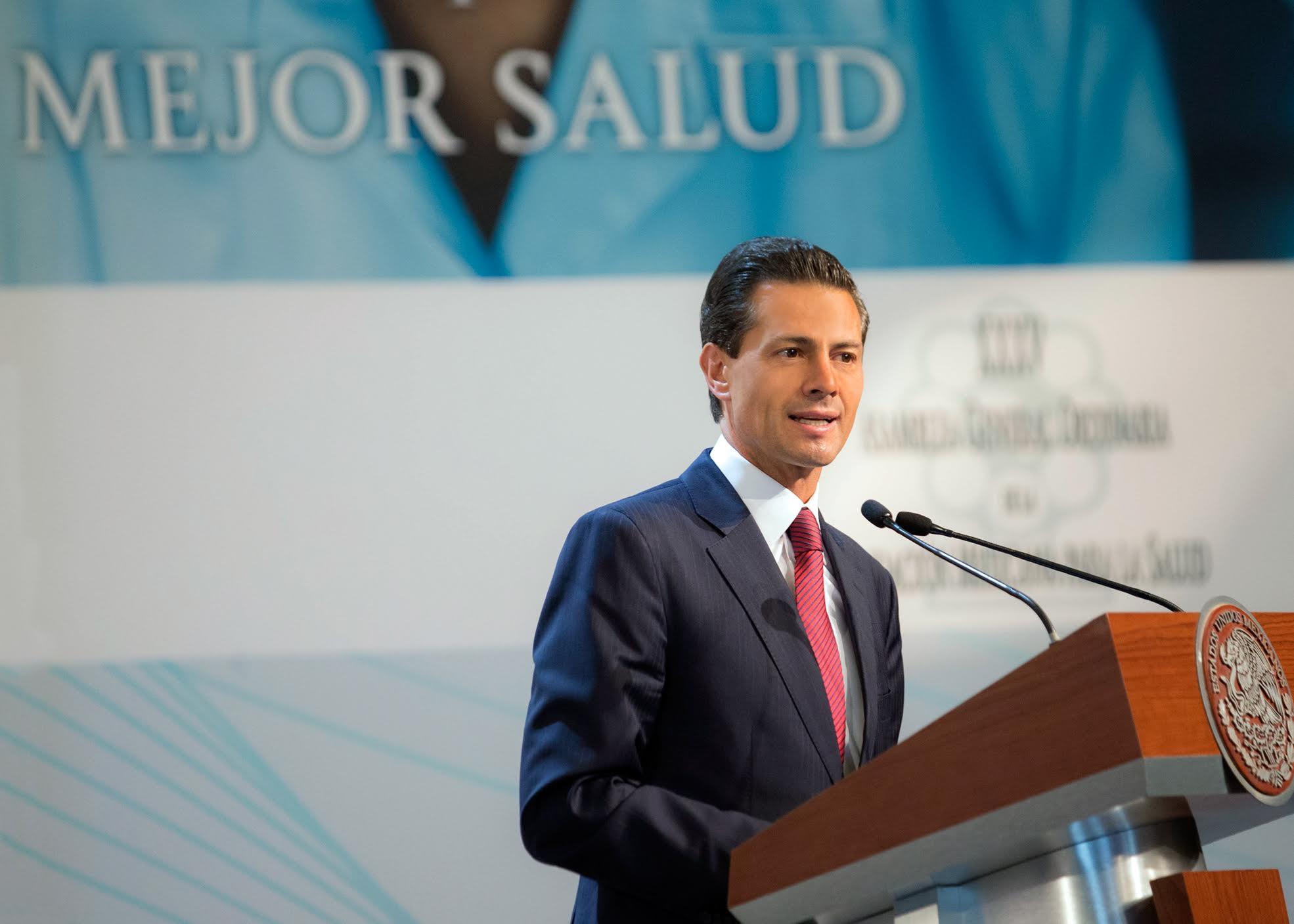 México impulsó que uno de los objetivos de desarrollo sostenible de la Agenda 2030, de Naciones Unidas, fuera, precisamente, el de salud y bienestar: EPN