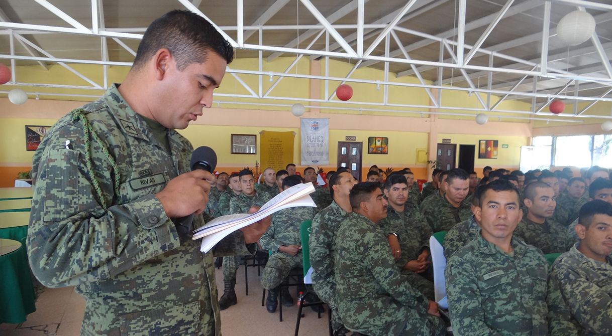 PGR, Delegación Durango capacita sobre Cadena de Custodia a elementos del Ejército Mexicano en Durango.
