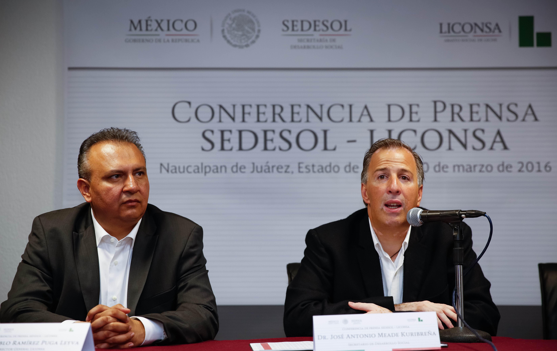 Conferencia de prensa Sedesol-Liconsa
