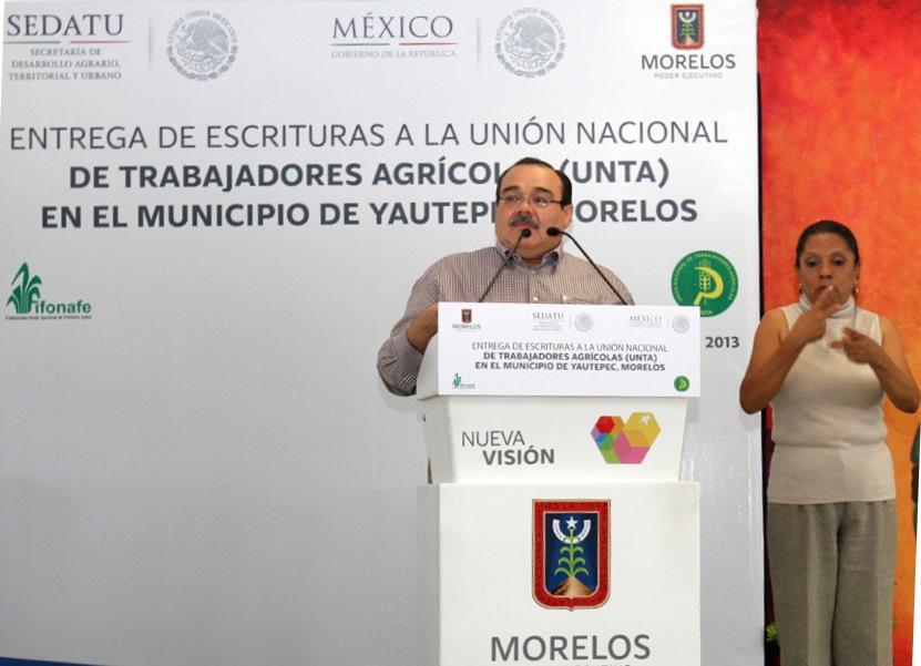 Titular de la Secretaría de Desarrollo Agrario, Territorial y Urbano (SEDATU), Jorge Carlos Ramírez Marín.