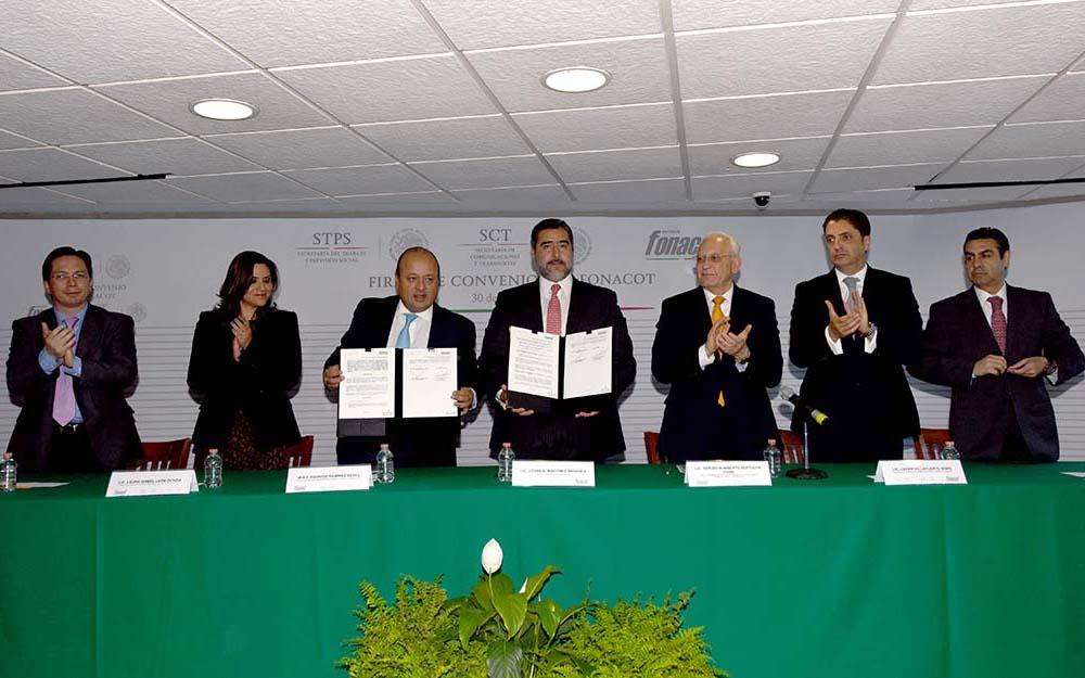 Ratifican convenio SCT –Instituto Fonacot para beneficiar a cerca de 60 mil trabajadores