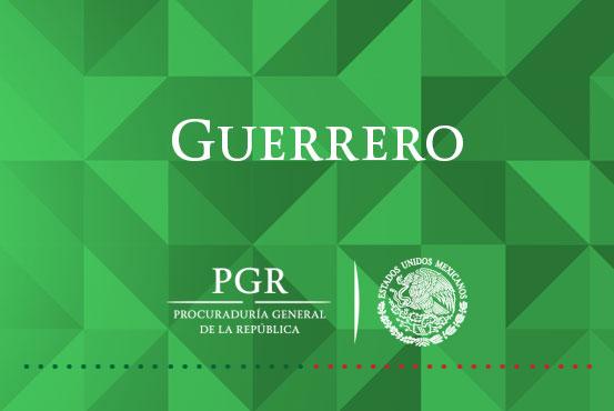 Consigna PGR Guerrero a una persona por transportar marihuana.
