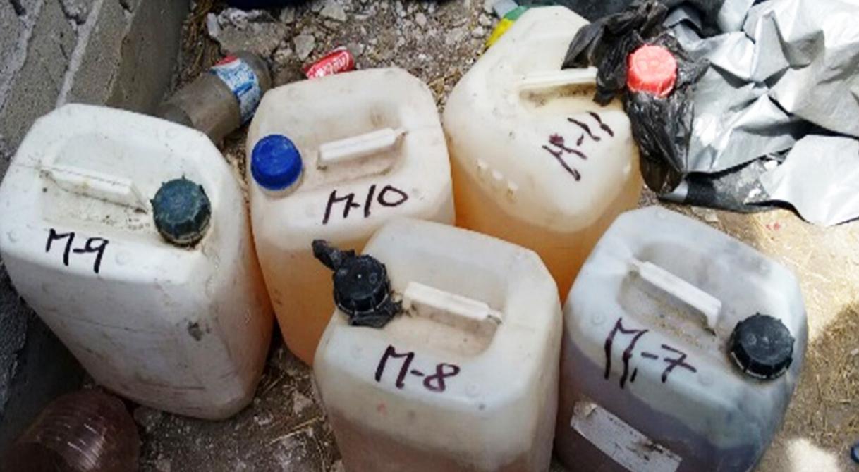 Mediante cateo, PGR asegura más de 700 litros de hidrocarburo.