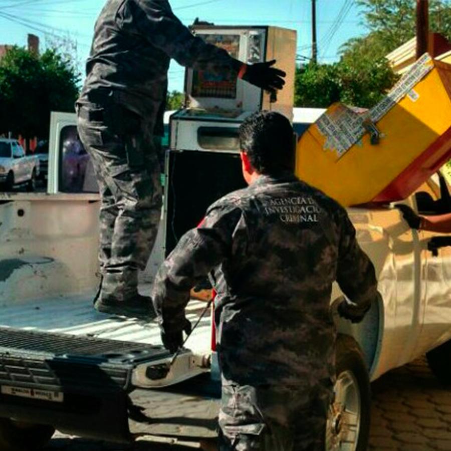 PGR asegura 28 máquinas tragamonedas en Los Mochis
