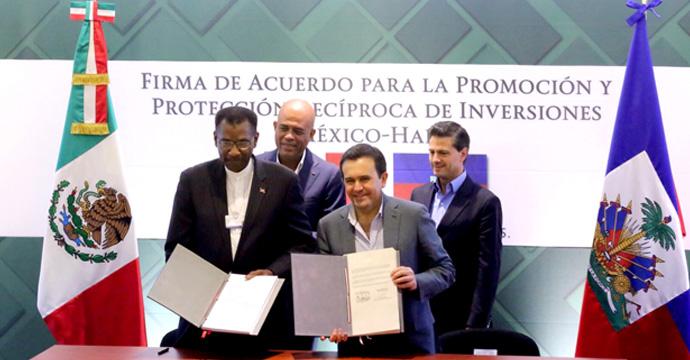 México y Haití suscriben Acuerdo para la Promoción y Protección Recíproca de las Inversiones