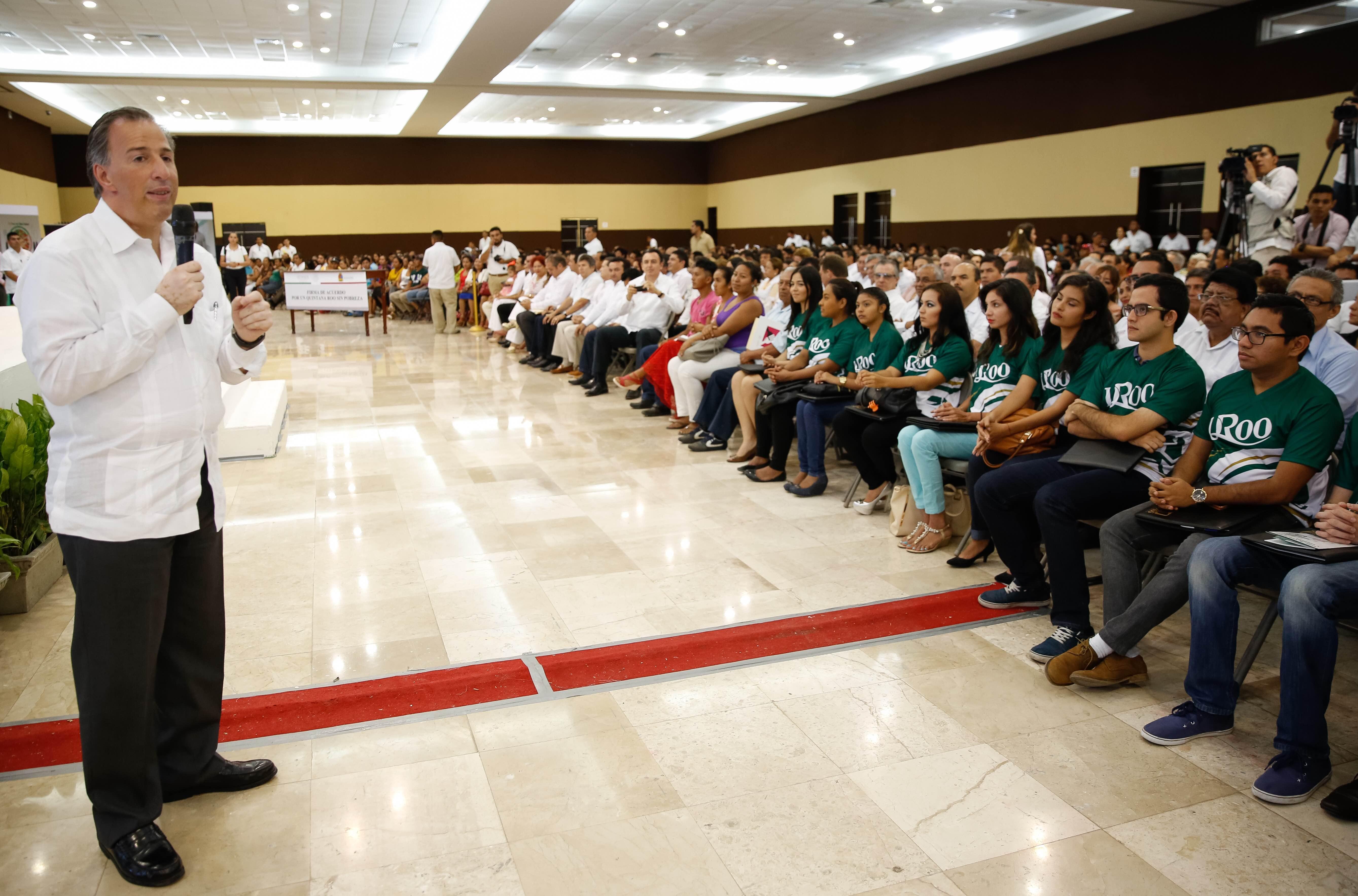 Mensaje del secretario de Desarrollo Social, José Antonio Meade Kuribreña, en el marco del anuncio de la entrega de 55 mil registros de afiliación al Seguro Social a estudiantes