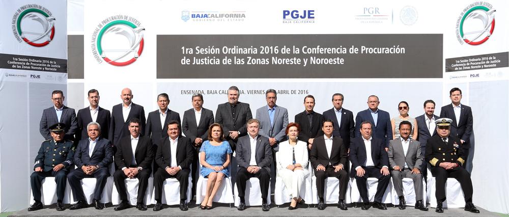 Inauguró Arely Gómez en Ensenada, BC, Primera Sesión Ordinaria 2016 de las Conferencias de Procuración de Justicia Zonas Noreste y Noroeste.