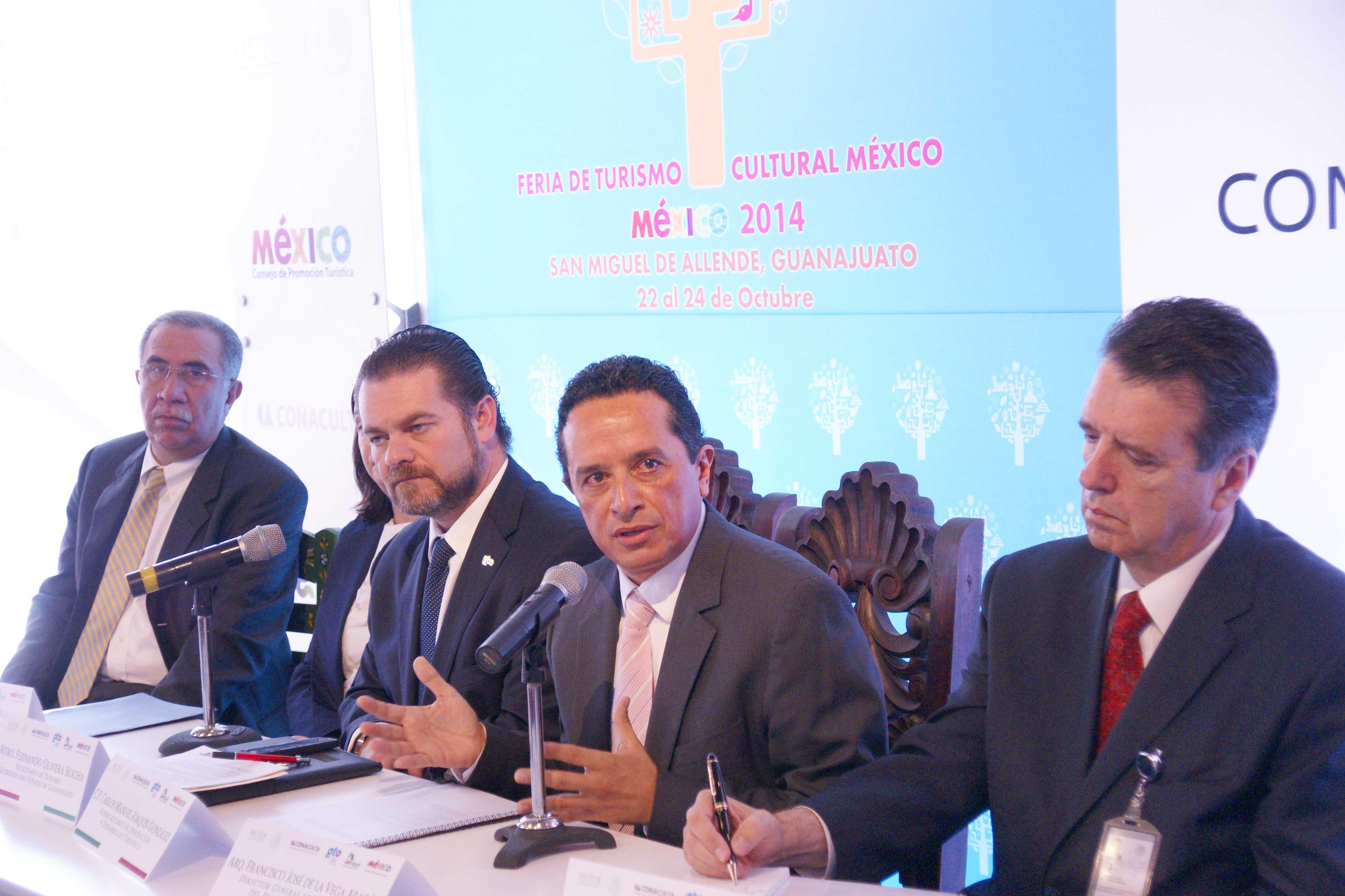 El Subsecretario de Innovación y Desarrollo Turístico, Carlos Joaquín González, presentó el programa de actividades de la Feria de Turismo Cultural México 2014.