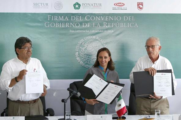 Firma acuerdo SECTUR, FONATUR, CMIC y CICM, en confianza a los mexicanos profesionales en construcción.
