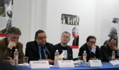 En el acto que presidió Philippe Ollé Laprune, director general de la Casa Refugio Citlaltépetl A.C., en compañía de Ricardo Cayuela Gally, titular de la Dirección General de Publicaciones (DGP) del Conaculta