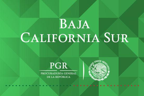 Mediante procedimiento abreviado, PGR BCS obtiene sentencia de cuatro años, por Delito Contra la Salud. Comunicado DPE/699/16