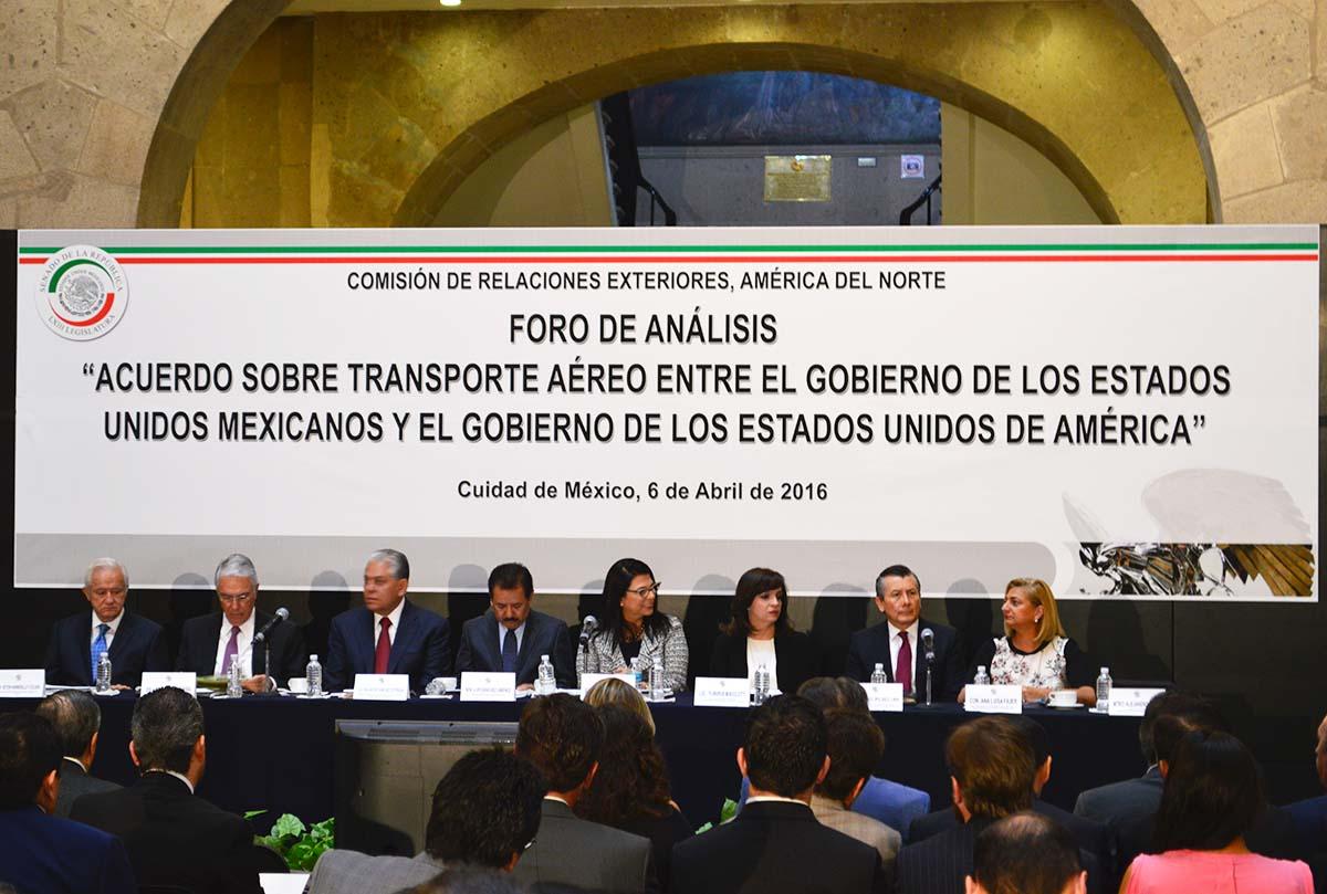 La SCT participó en Foro del Senado para analizar el Acuerdo Bilateral Aéreo México-EU