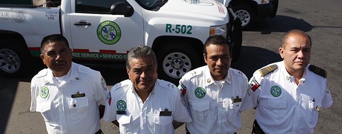 La Corporación Ángeles Verdes despliega elementos para brindar auxilio a los paseantes durante el puente vacacional de las Fiestas Patrias.