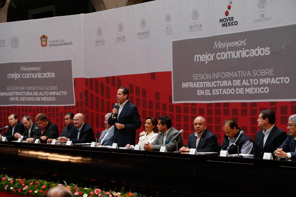 Sesión informativa sobre infraestructura de alto impacto en el Estado de México.