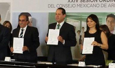 En presencia del Lic. Eruviel Ávila gobernador del Estado de México, Conamed y la Comisión Nacional para el Desarrollo de los Pueblos Indígenas firman convenio de colaboración.