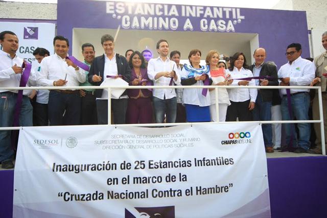 Se inauguran 25 estancias infantiles en Comitán, Chiapas