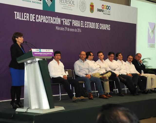 Inaugura RRB el taller de capacitación para la utilización del Fondo de Aportaciones para la Infraestructura Social (FAIS) en el municipio de Comitán, Chiapas