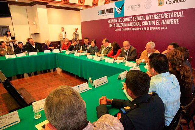 Reunión del Comité Estatal Intersecretarial de la Cruzada Nacional Contra el Hambre