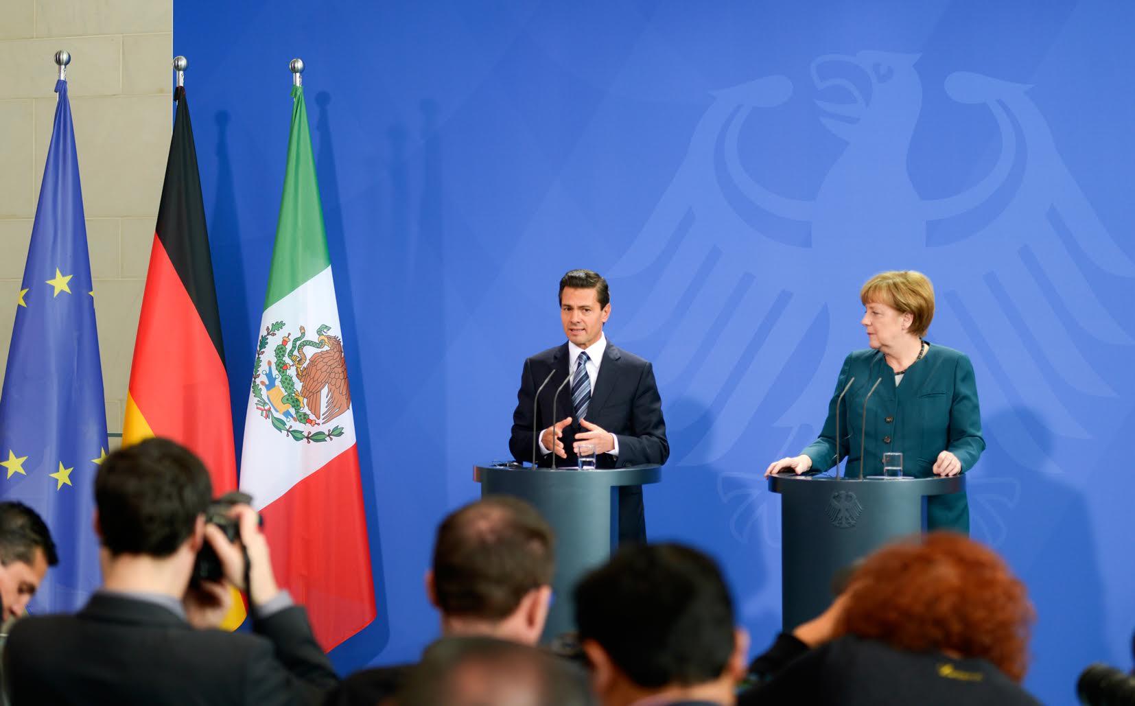 """""""Yo diría que el Año Dual es una extraordinaria oportunidad para que México y Alemania, Alemania y México, se conozcan más y se acerquen más"""": EPN"""
