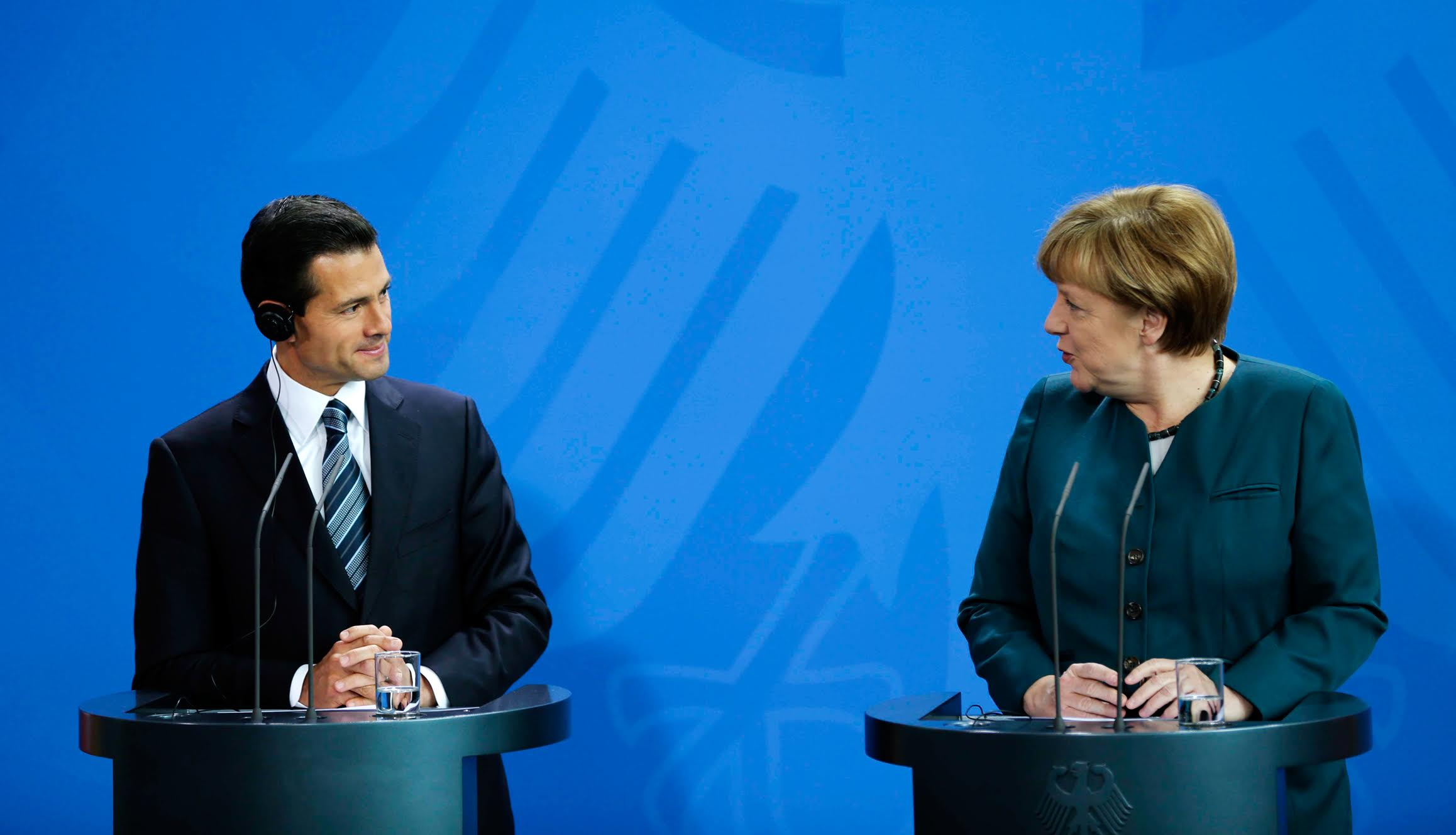 """Noting that this is the Dual Year, the year of Mexico in Germany and of Germany in Mexico, German Federal Chancellor Angela Merkel said that, """"We have very close cooperation"""" between the two countries."""